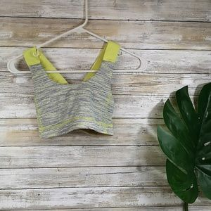 Lululemon sports bra size 4 gray and yellow EUC